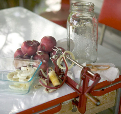 If you haven't yet treated yourself to a hand-crank apple peeler, you're missing out on the quickest, easiest way to create thin, uniform slices perfect for pies and crisps. Credit: Mary Jane Butters