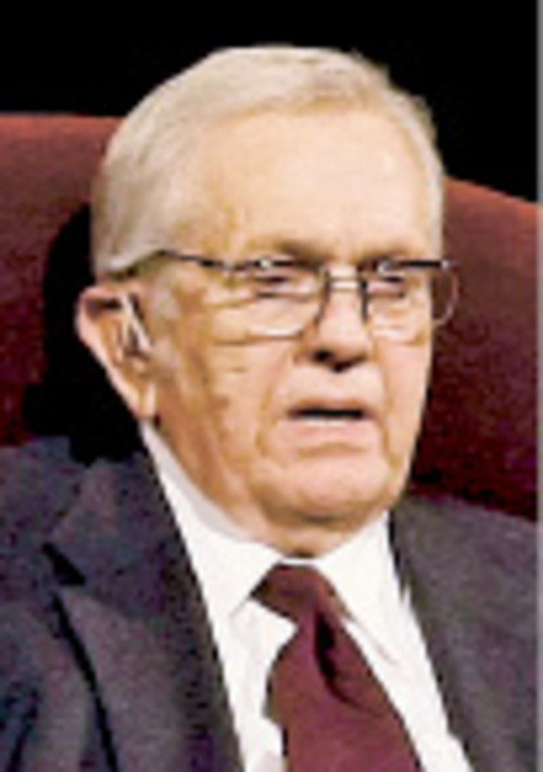 Chris Detrick  |  The Salt Lake Tribune Boyd K. Packer, president Quorum of the Twelve Apostles, speaks during the afternoon session of the 179th Semiannual General Conference of The Church of Jesus Christ of Latter-day Saints on Saturday.