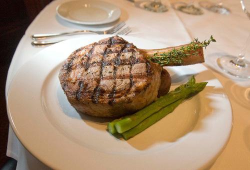 Paul Fraughton  |  The Salt Lake Tribune    The Cowboy Ribeye Steak at Christopher's in downtown Salt Lake City.