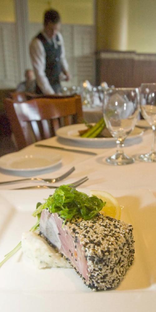 Paul Fraughton  |  The Salt Lake Tribune       The seared ahi tuna at Christopher's.