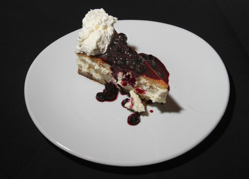 Rick Egan   |  The Salt Lake TribuneNew York-style cheesecake at Fleming's Prime Steakhouse & Wine Bar in downtown Salt Lake City.