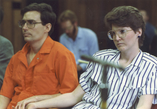 FILE  | The Salt Lake Tribune Mark and Doralee Hofmann at Board of Pardons hearing in the 1980s.