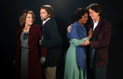 Leah Hogsten  |  The Salt Lake TribuneCelena Shafer, left, as Musetta, Brian Leerhuber as Marcello, Laquita Mitchell as Mimì and Gerard Powers as Rodolfo in