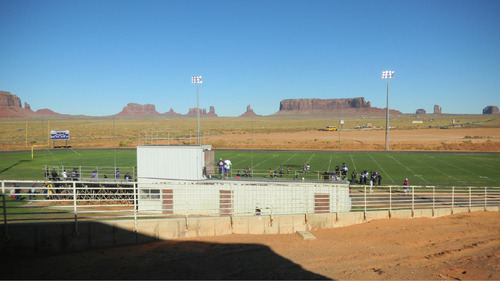 Tom Wharton | The Salt Lake Tribune  Monument Valley's small seating area offers views of some of the southwest's most iconic red rock formations. Try the fry bread at the concession stand.