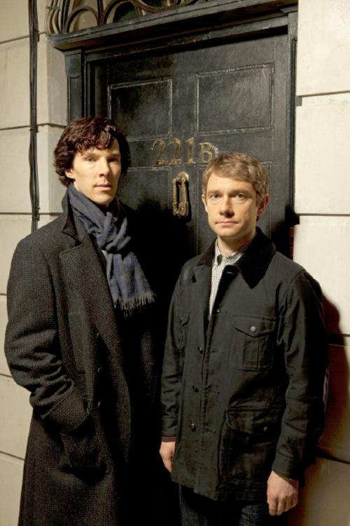 Hartswood films | BBCBenedict Cumberbatch (left) as Sherlock Holmes and Martin Freeman as Dr. Watson