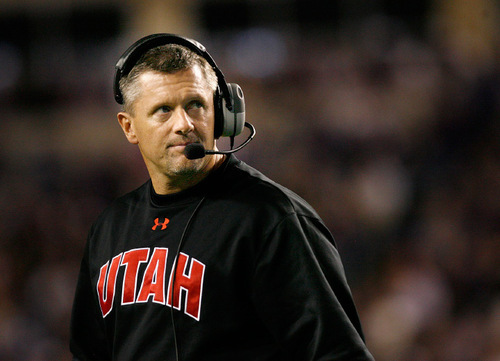 File photo  |  The Salt Lake Tribune Utah coach Kyle Whittingham will try to create a strong rivalry with the Colorado Buffaloes.