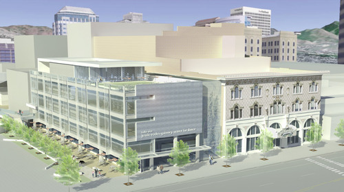 Ballet West and The Salt Lake County Center for the Arts announced Monday plans for construction of the Jessie Eccles Quinney Center for Dance, to be completed 2013.