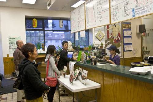 Chris Detrick | The Salt Lake Tribune U0026#xA;Customers Order Food From Kyoko