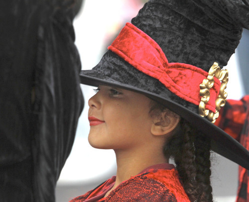 Rick Egan   |  The Salt Lake Tribune Asia Campbell, dresses as a witch, for the Witchstock witch festival on Historic 25th Street in Ogden, Saturday, Oct. 23, 2010.