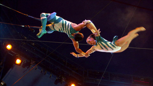 The Flying Cortes trapeze troupe. Credit: Courtesy of Show of Force