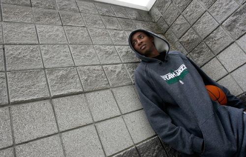 Francisco Kjolseth     The Salt Lake TribuneFeature on Jazz rookie Jeremy Evans.Salt Lake City, Oct. 25, 2010.
