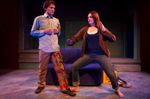 Chris Detrick |  The Salt Lake Tribune David Fetzer as Jules and Emily Burnworth as Jo in a scene from