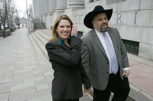 Francisco Kjolseth  |  Tribune file photo  Rick Koerber, seen with his wife, Jewel, outside the federal courthouse in Salt Lake City in early 2010, asserts that the federal government's case against him is based on a state investigation that is deeply flawed and without merit. Now the federal government has been forced to seek a new indictment against Koerber after a judge threw out a key piece of evidence in case over an alleged investment scam that took in more than $100 million.