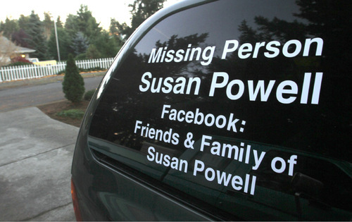 Rick Egan   |  The Salt Lake Tribune  A sign on the window of Chuck Cox's family van, parked in the driveway of their home in Puyallup, Wash.