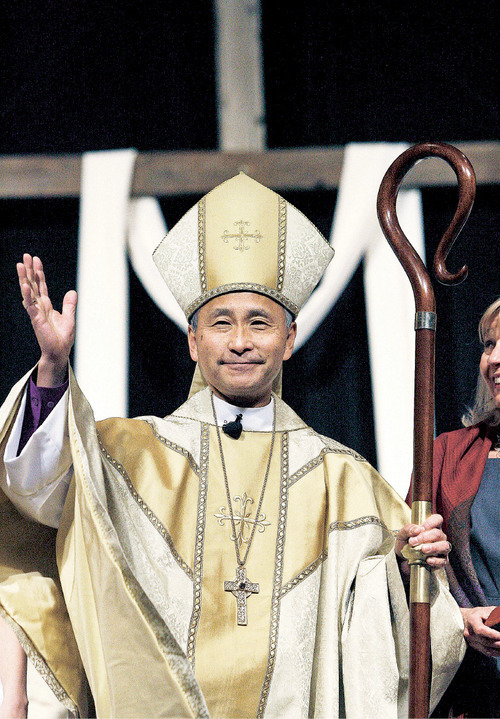 Scott Sommerdorf  l  The Salt Lake Tribune The Ordination and Consecration of The Reverend Canon Scott Byron Hayashi as the 11th bishop of The Episcopal Diocese of Utah took place on Saturday.