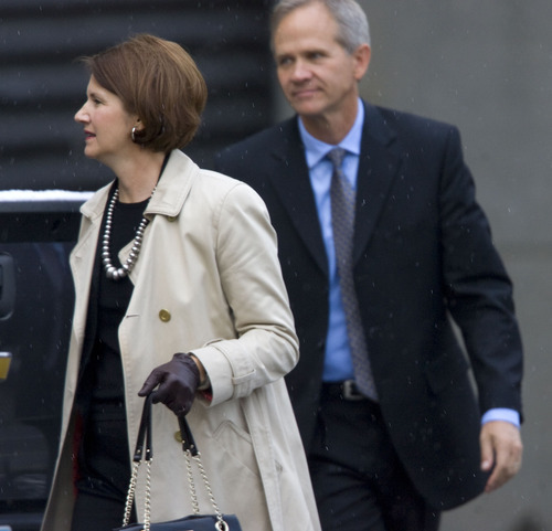 Al Hartmann  |  The Salt Lake Tribune Lois and Ed Smart enter the Frank Moss Federal Courthouse in Salt Lake City for the Brian David Mitchell trial on Tuesday, Nov. 9. Mitchell is accused of kidnapping their daughter, Elizabeth Smart.