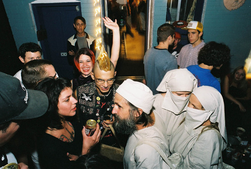 Brian David Mitchell, Elizabeth Smart and Wanda Barzee attend a party in Salt Lake City.