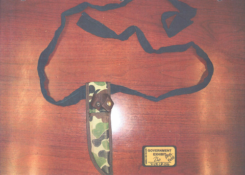This is the knife sheath, which was evidence presented during Brian David Mitchell's trial.