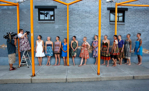 Trent Nelson  for In This Week Photographer Cat Palmer gathered 14 women who shaved their heads and were photographed for her