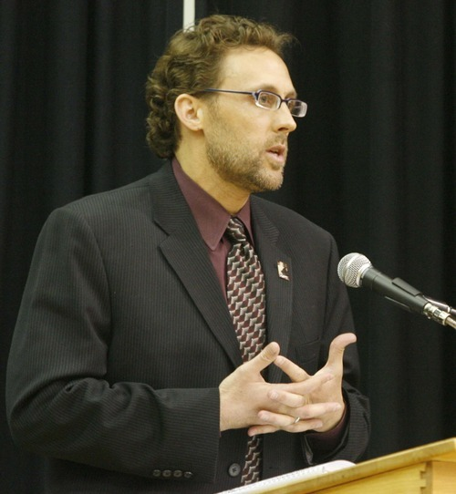 Paul Fraughton  |  The Salt Lake Tribune Rep. David Litvack speaks against the amendment at a debate at Calvary Baptist Church sponsored by the state's Black Advisory Council  on whether the state constitution should be amended to abolish affirmative action on  Monday,November 15, 2010