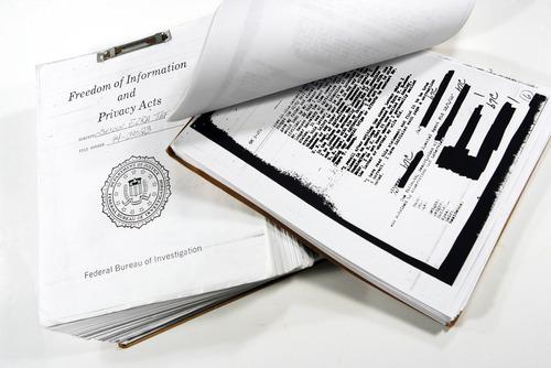 Francisco Kjolseth  |  The Salt Lake Tribune FBI files on Ezra Taft Benson. Salt Lake City, Nov. 10, 2010.