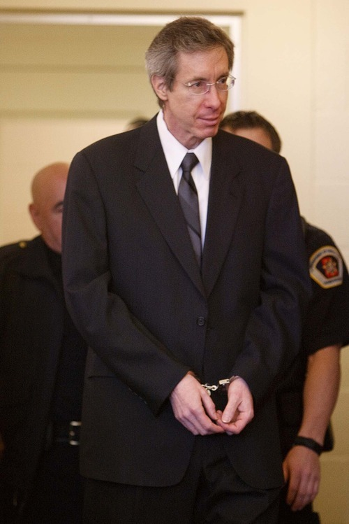 Trent Nelson | The Salt Lake Tribune Polygamous sect leader Warren S. Jeffs appears at an extradition hearing in 3rd District Court in West Jordan on Monday. A Utah judge ordered Jeffs extradited to Texas to face bigamy and sexual assault charges, but the Utah Court of Appeals halted the extradition at least until Wednesday.