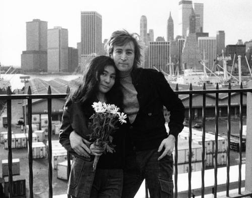Yoko Ono and John Lennon in New York City Credit: Ben Ross