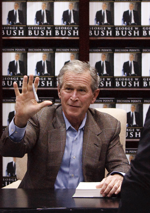 Leah Hogsten  |  Tribune file photo This 2010 photo shows former President George W. Bush at a book signing in Sandy. A former senior CIA official says that officials in the Bush White House sought damaging personal information on a prominent U.S. critic of the Iraq war in order to discredit him.
