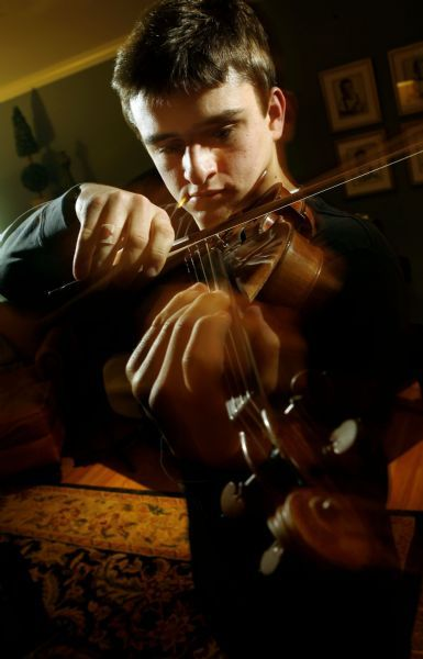 Francisco Kjolseth     The Salt Lake Tribune     Salt Lake City - Baseball-playing violin prodigy, Will Hagen practices his violin recently.  Hagen, 17, who is still in high school is already on his way to a (major) music career. The young talent is so dedicated that he flies to L.A. every week to work with a violin teacher. Even as a child, he says he could just