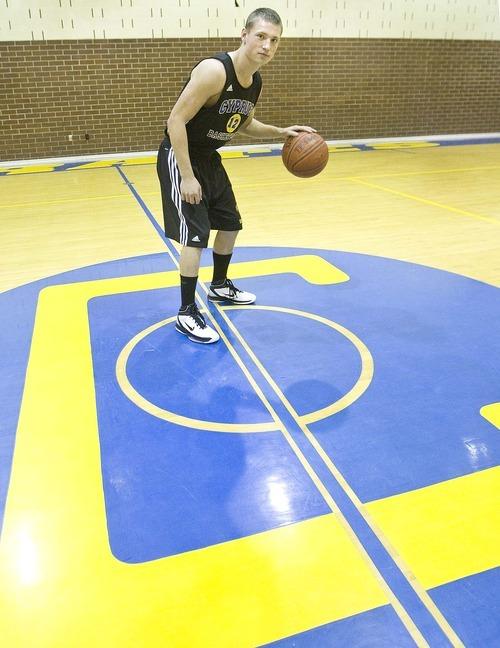 Paul Fraughton  |  The Salt Lake Tribune   Cyprus High School third year starter on the basketball team, Jazz White  on  Monday,November 22, 2010