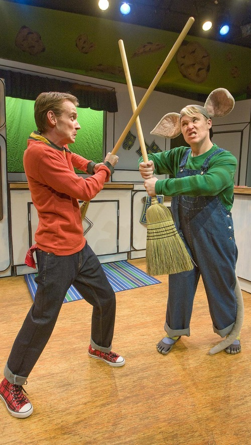 Paul Fraughton  |  The Salt Lake Tribune   Michael Gardner, as Boy, and Dustin Bolt, as Mouse, in the Salt Lake Acting Company production of