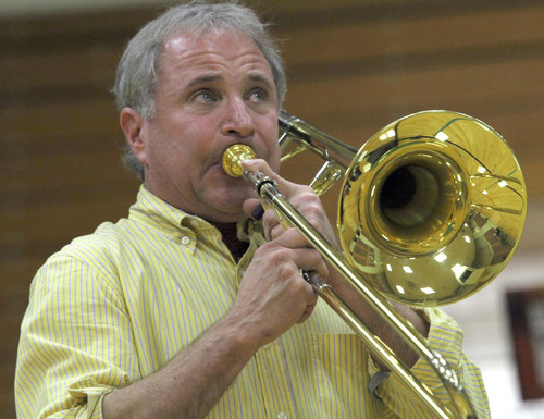 Rick Egan   |  The Salt Lake Tribune Larry Zalkind, Utah Symphony principal trombonist, became the keeper of his family's medical history after the chance discovery of a large colon polyp in his 20s.