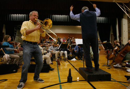 Rick Egan  | The Salt Lake Tribune Larry Zalkind, Utah Symphony principal trombonist, practices with the Wasatch Community Symphony Oct. 25. He became the keeper of his family's medical history after the chance discovery of a large colon polyp in his 20s.