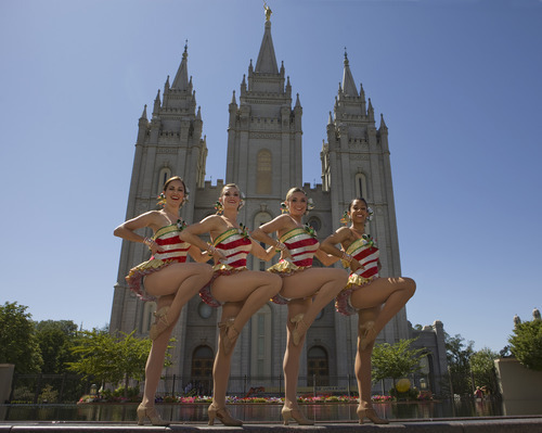 The Rockettes, who were pictured during their August visit to Salt Lake City, are bringing a piece of the Big Apple to Utah with