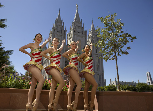 In August 2010, four Rockettes came from Radio City Music Hall to visit Utah. They visited Rio Tinto Stadium, Olympic Park, Park City Mountain Resort and, of course, Temple Square. They will perform in Utah beginning on Black Friday. Michael Brandy  |