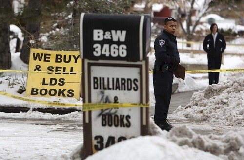 Trent Nelson  |  The Salt Lake Tribune South Salt Lake police responded to B & W Billiards and Books, (3466 S. 700 East) Tuesday, November 30, 2010 on a report of a stabbing.
