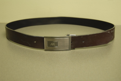 This Armani Exchange belt was recovered in the proximity of a homicide that occured at B&W Billiards & Books in Salt Lake City, believed to belong to the perpetrator. Courtesy Photo