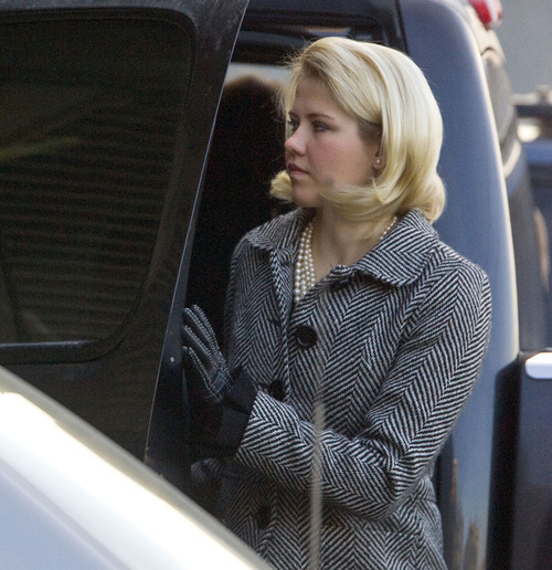 Al Hartmann  |  The Salt Lake Tribune  Elizabeth Smart enters the Frank Moss Federal Courthouse in Salt Lake City on Thursday, Dec. 2, for the Brian David Mitchell trial.