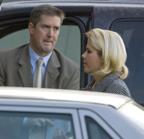Al Hartmann  |  The Salt Lake Tribune  Elizabeth Smart enters the Frank Moss Federal Courthouse in Salt Lake City on Thursday, Dec. 2, for the Brian David Mitchell trial.