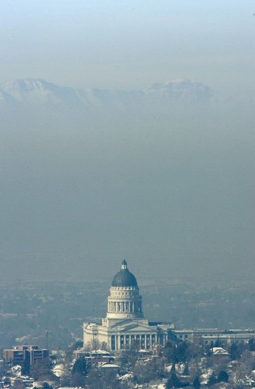 Steve Griffin  |  The Salt Lake Tribune   The morning sunlight shines on the Utah state capitol as the rest of the Salt Lake valley is covered by inversion December 2, 2010.