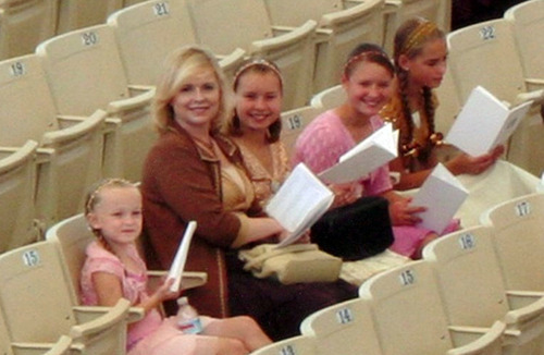Michele MacNeill and four of her daughters at an event in 2006. source www.micheleMacneill.com