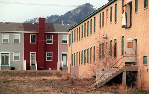 several historic buildings at the Intermountain Indian School were converted into townhouses, but practically all of the rest of the old buildings are coming down. ryan galbraith/photo 3.15.01