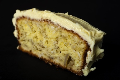 Chris Detrick  |  The Salt Lake Tribune  Banana cake with light yellow frosting, the recipe from Chef Ragnar Kjell.