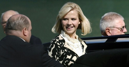 Steve Grifffin | The Salt Lake Tribune Elizabeth Smart leaves the federal courthouse in Salt Lake City  Oct. 1 after Smart testified for the first time about her 2002 abduction and nine months of captivity at the hands of Brian David Mitchell.