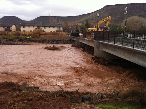 Trent Nelson/The Salt Lake Tribune View of the bridge on Valley View Drive on Wednesday, Dec.22.