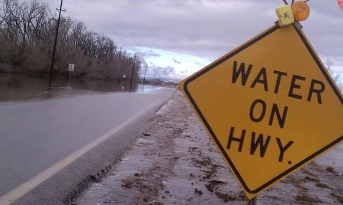Cimaron Neugebauer | The Salt Lake Tribune Flooding has affected roads in Beryl Junction.