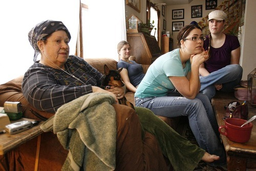 Trent Nelson  |  The Salt Lake Tribune Gina Putnam (left), in her Motoqua home Wednesday, December 22, 2010. Left to right, Gina Putnam,