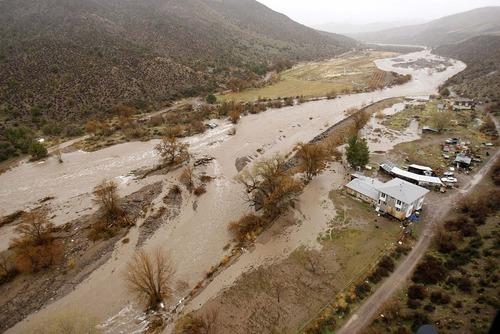 Trent Nelson  |  The Salt Lake Tribune Beaver Dam Wash in Motoqua, Utah, Wednesday, December 22, 2010.