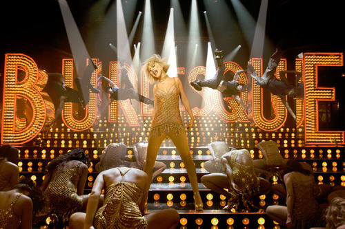 Christina Aguilera (center) stars in the backstage musical