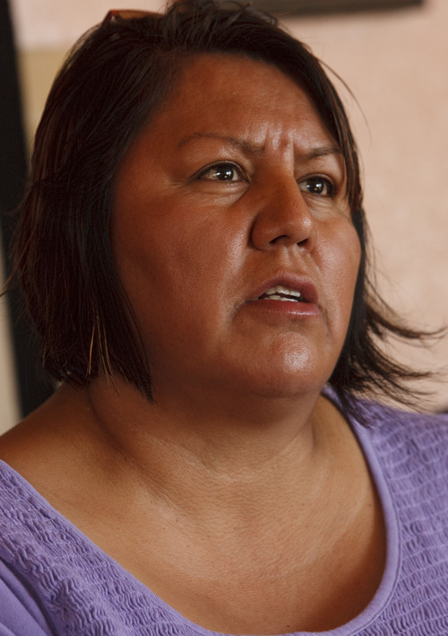 LEAH HOGSTEN | The Salt Lake Tribune Elsie Mae Begay's daughter-in-law, Mary Helen Begay, is joining in the fight to ensure the EPA cleans up the contaminated land.
